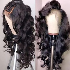 Lace Front Human Hair Wig Loose Deep Wave 360 Lace